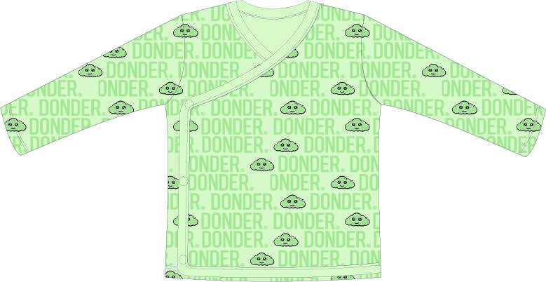 T-shirt   Lange Mouw   Overslag   Name Mint Groen