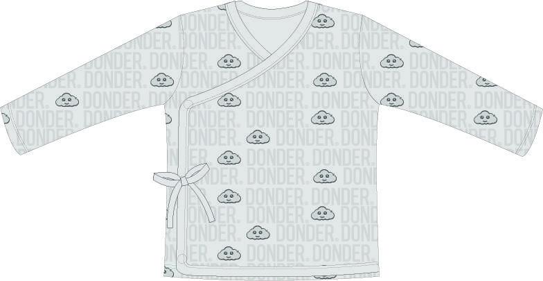T-shirt   Lange Mouw   Overslag   Name Muis Grijs
