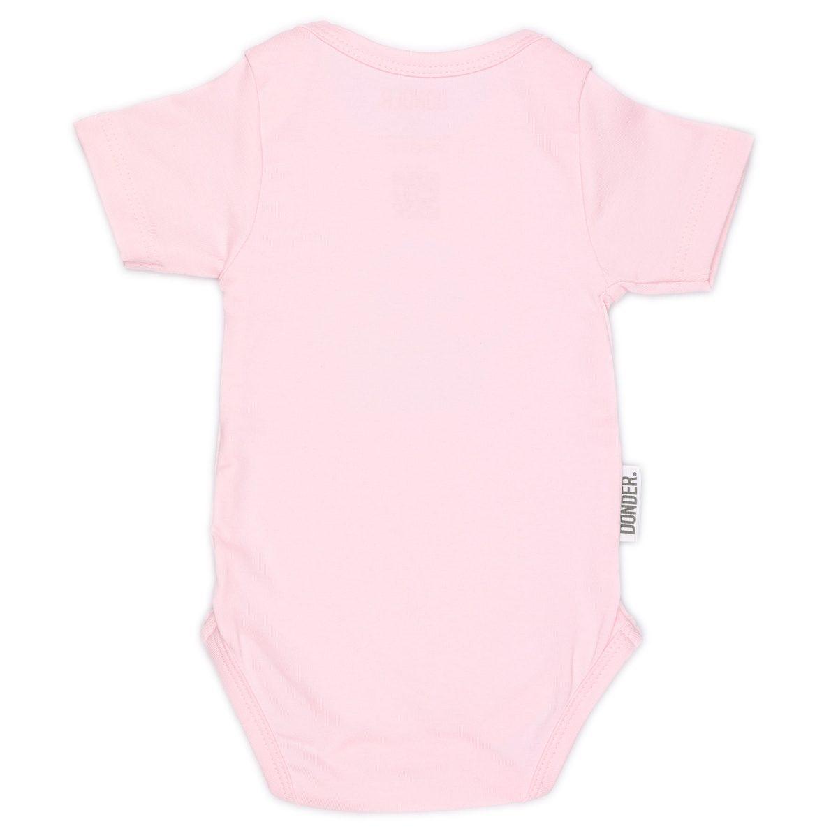 Romper   Korte Mouw   Basic Roze