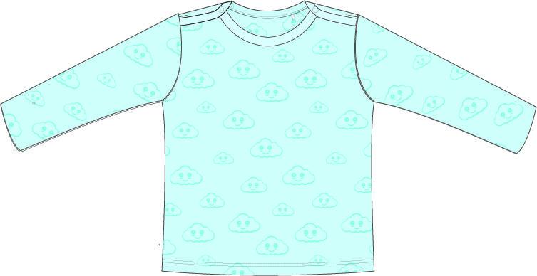 (Nederlands) T-shirt | Lange Mouw | Cloud Blauw