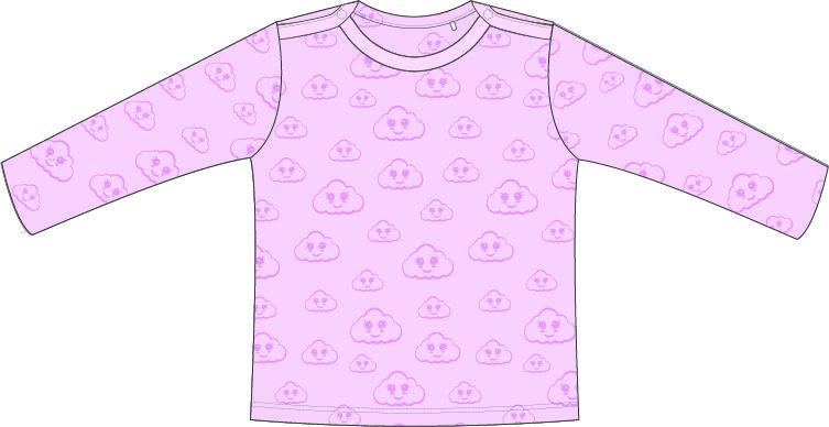 (Nederlands) T-shirt | Lange Mouw | Cloud Roze