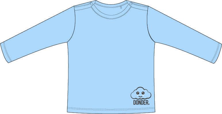 (Nederlands) T-Shirt | Lange Mouw | Basic Blauw