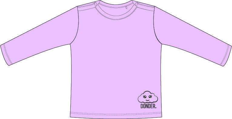 (Nederlands) T-shirt | Lange Mouw | Basic Roze