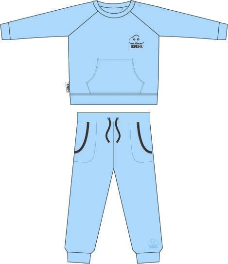 (Nederlands) Trainingspakje | Basic Blauw