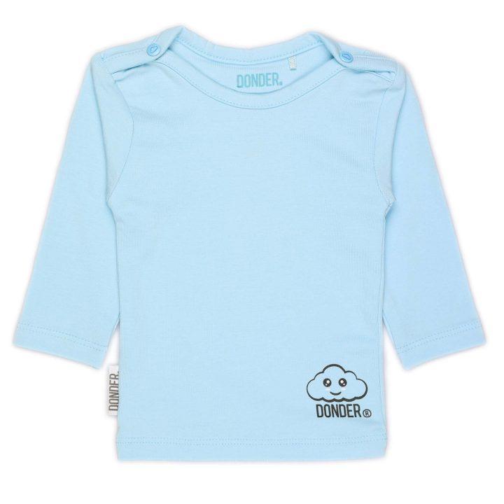 T-Shirt | Lange Mouw | Basic Blauw